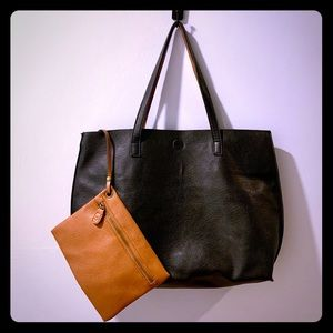 Leather Carryall Tote